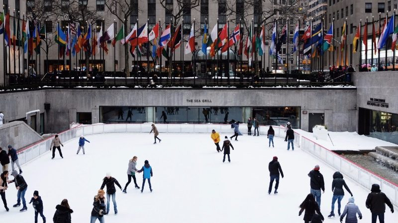 Sliding on ice in New York City - Photo by www.intrepidtravel.com